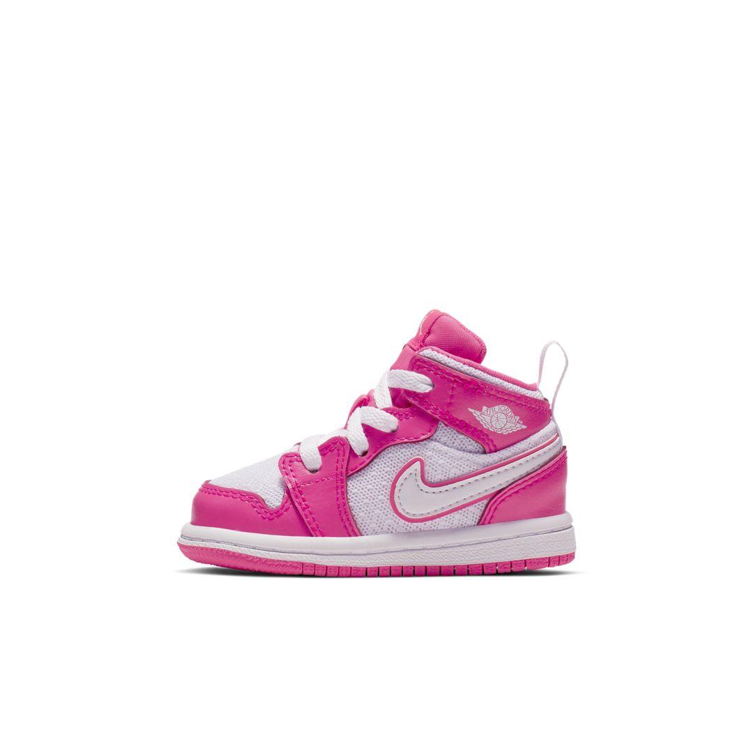 buy online c226c 12400 Air Jordan 1 Mid GT Infant Toddler Shoe Size 3C (Hyper Pink)