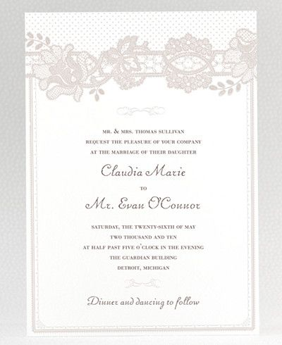 10 Beautiful Vintage Invitations By O Lucky Books