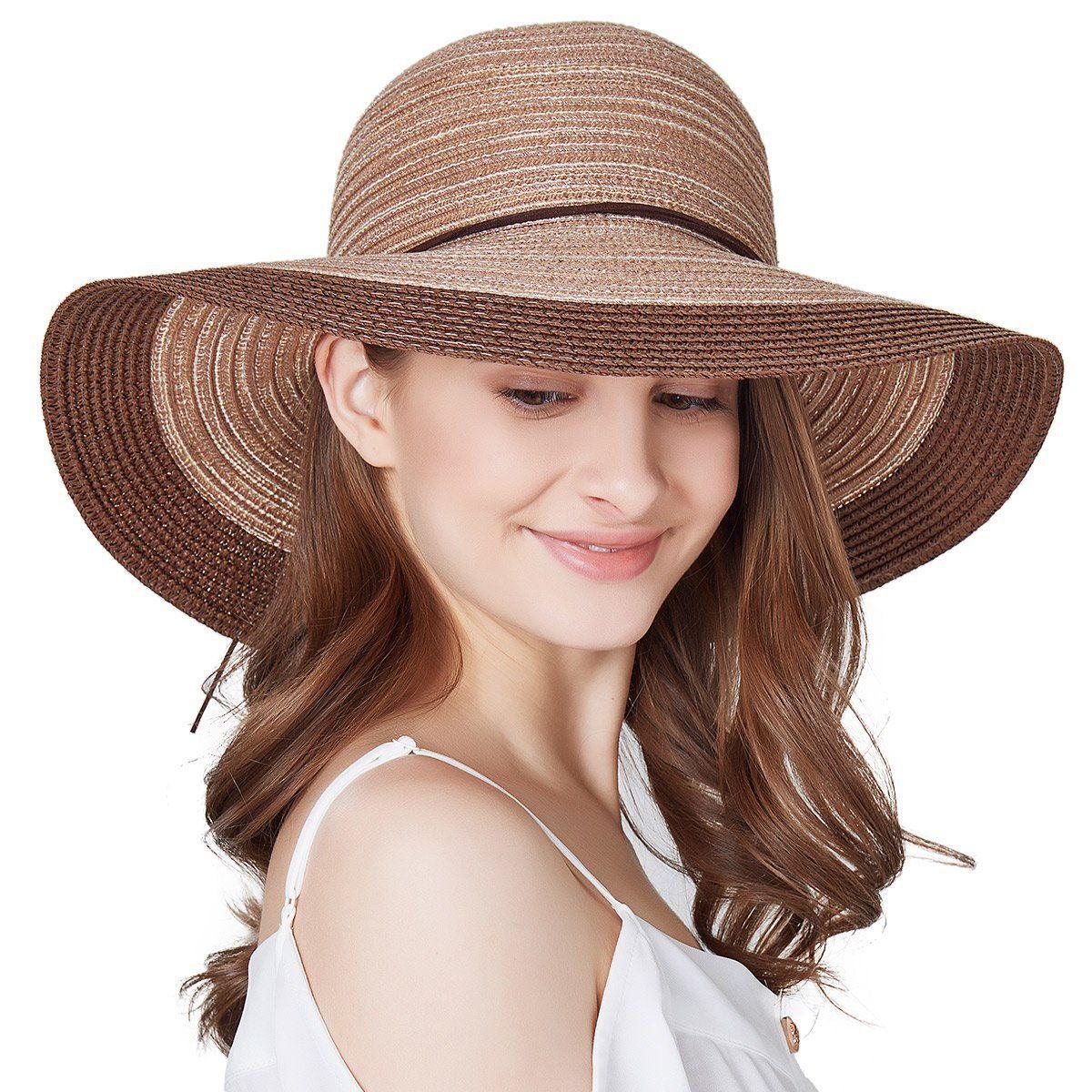 722de8b2 SOMALER Women Floppy Sun Hat Summer Wide Brim Beach Cap Packable Cotton Straw  Hat For Travel (Pink) at Amazon Women's Clothing store: