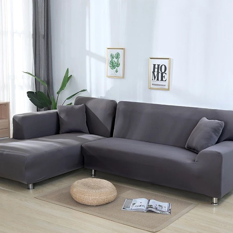 Sofa Cover For Living Room Elasticity Non Slip Couch Slipcover Universal Spandex Case For Stretch Sofa Cover 1 2 3 4 Seater Sectional Sofa Slipcovers Sofa Covers Sectional Sofas Living Room