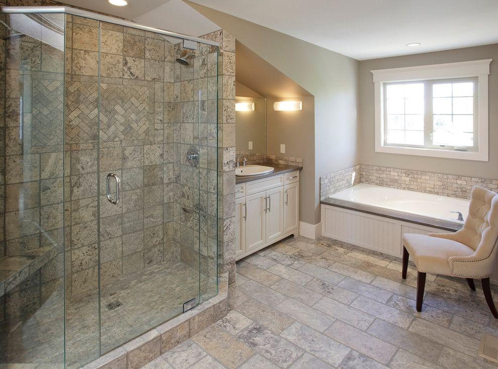 Executive Calgary Semi-detached - traditional - bathroom - calgary ...