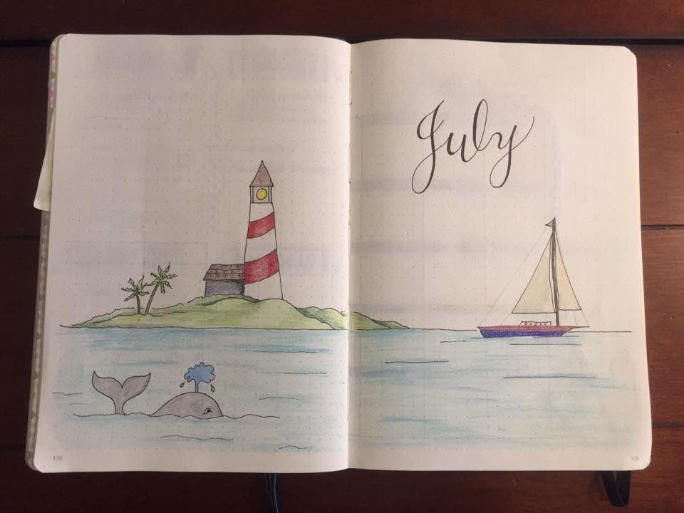 July lighthouse | Bullet Journal | Bullet journal 2019