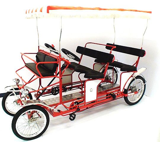 4 Four Wheeled Bike Bicycle For 4 People To Pedal Bikes