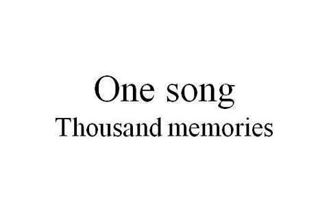 One Song 1000 Ideas Words Songs Memories Quotes