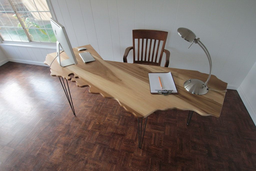 Natural Wood California Office Desk The Er Also Makes An Amazing Coffee Table