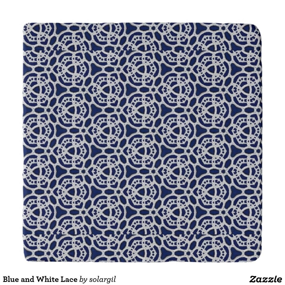 Blue and White Lace Trivets