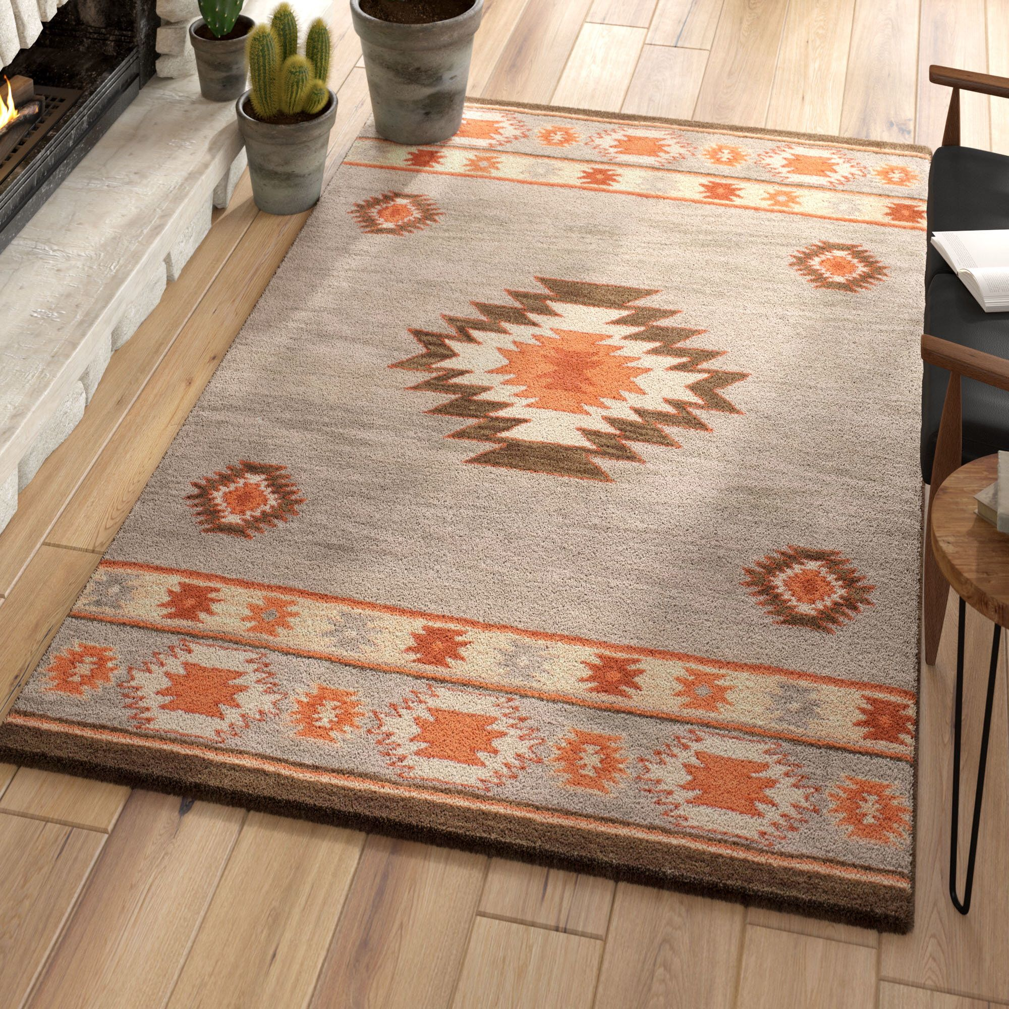 Claghorn Hand Tufted Gray Area Rug Area Rugs Rugs Beige Area Rugs