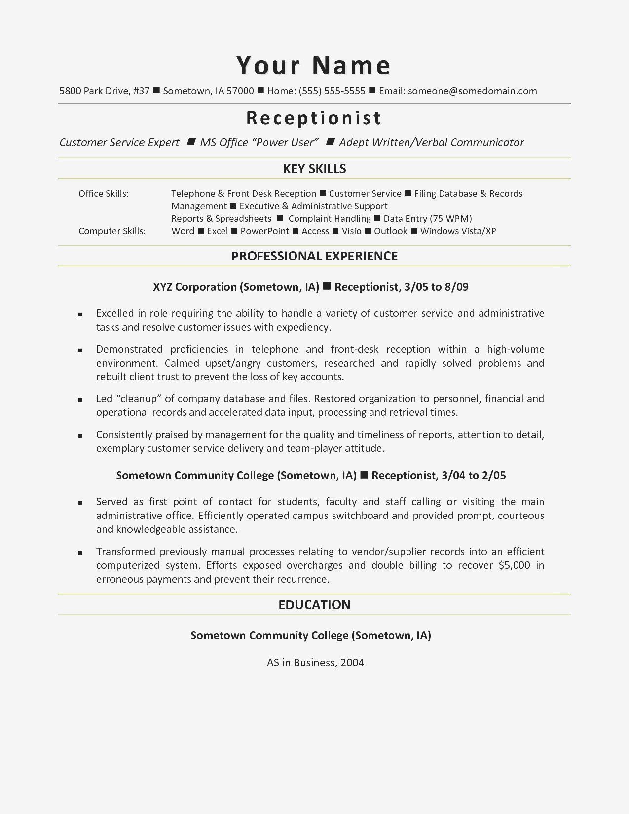 Skills For Accounting Resume Best Of Sample Construction Resume