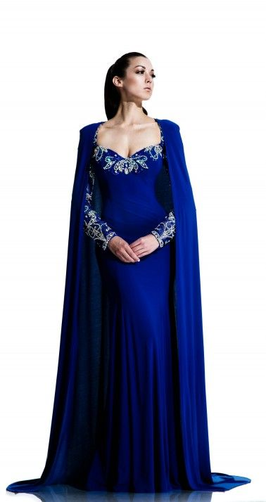Johnathan Kayne - Style 553 - Gown with detachable cape  02e73ff562fb
