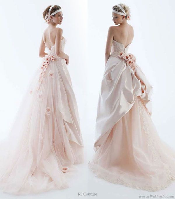 light pink wedding dresses | One Day | Pinterest | Gowns, Pink ...