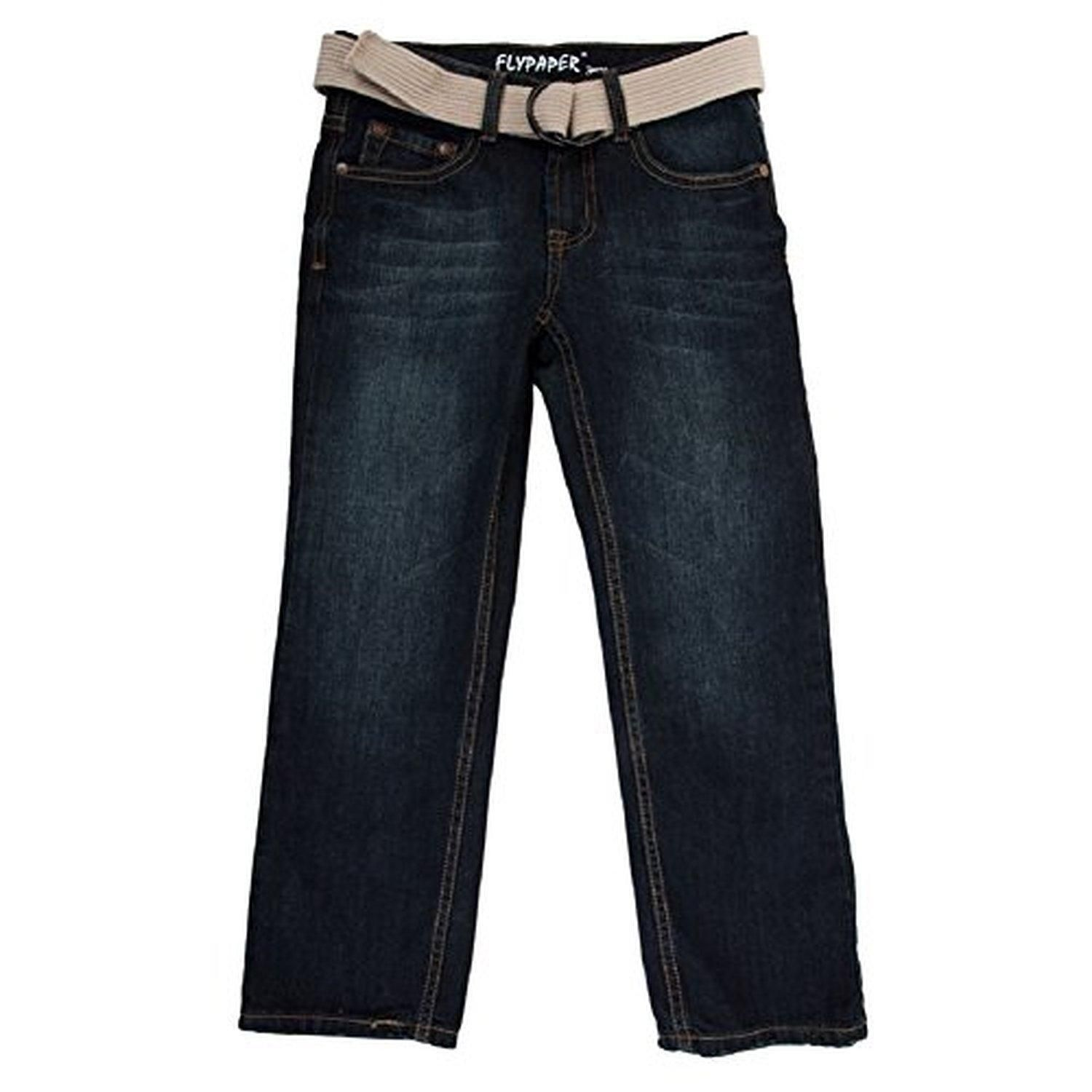 Flypaper Jeans Boys 8-20 Regular Straight Leg Jean (20R, Dark Wash) - Brought to you by Avarsha.com