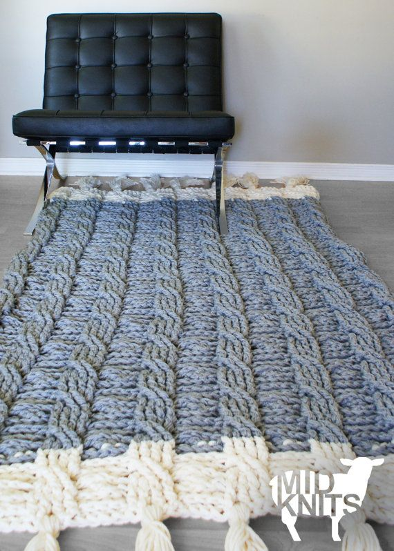 DIY Crochet PATTERN Reversible Cable Throw Blanket / by Midknits ...