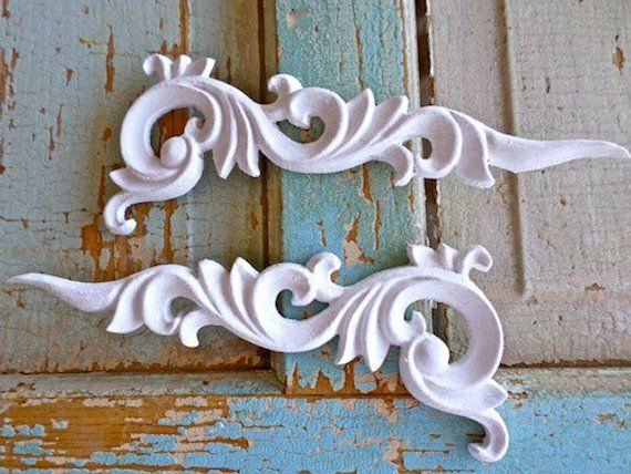Shabby chic architectural carved corners set of furniture