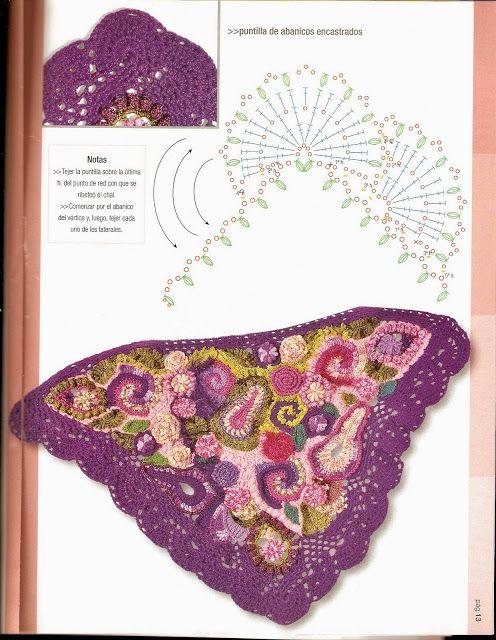 Revistas de crochet y tejidos gratis: Como hacer un chal en crochet ...