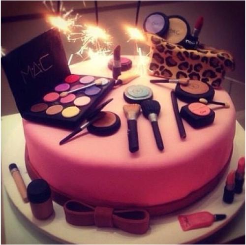 Happy birthday birthday cake make up beauty cake