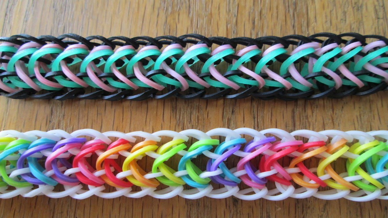 how to make a dragon tail loom bracelet