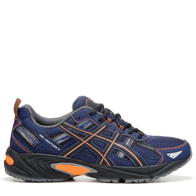 e0a79e58405 ASICS Men's Gel-Venture 5 Trail Running Shoes (Navy/Orange/Black) - 11.0 M