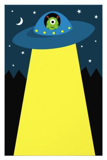 Cute Alien In Flying Saucer Spaceship Children S Stationery Zazzle Com In 2021 Alien Crafts Spaceship Craft Flying Saucer