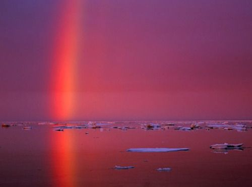 Ice Crystal Rainbow in the Arctic Circle.