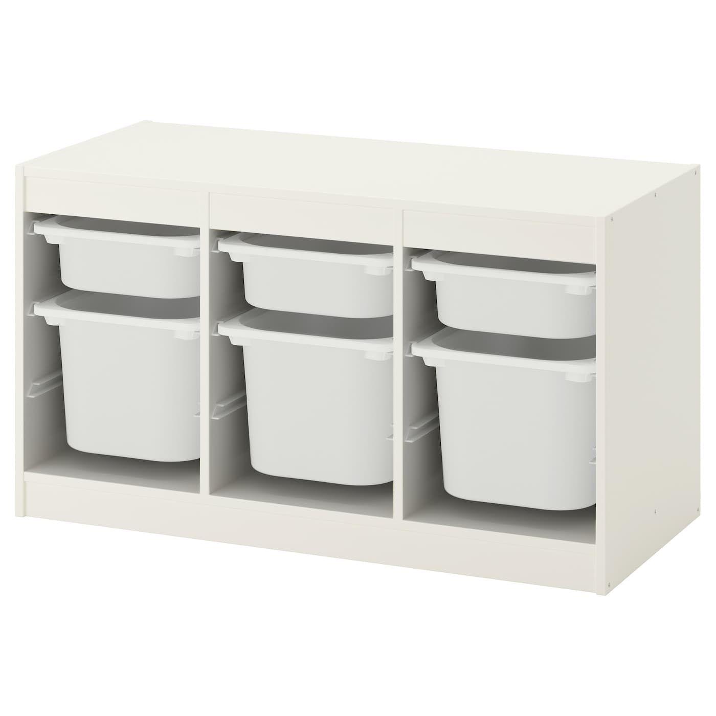 Ikea Trofast Rangement Boites Blanc Blanc En 2020 Rangement Bas Rangement Et Ikea