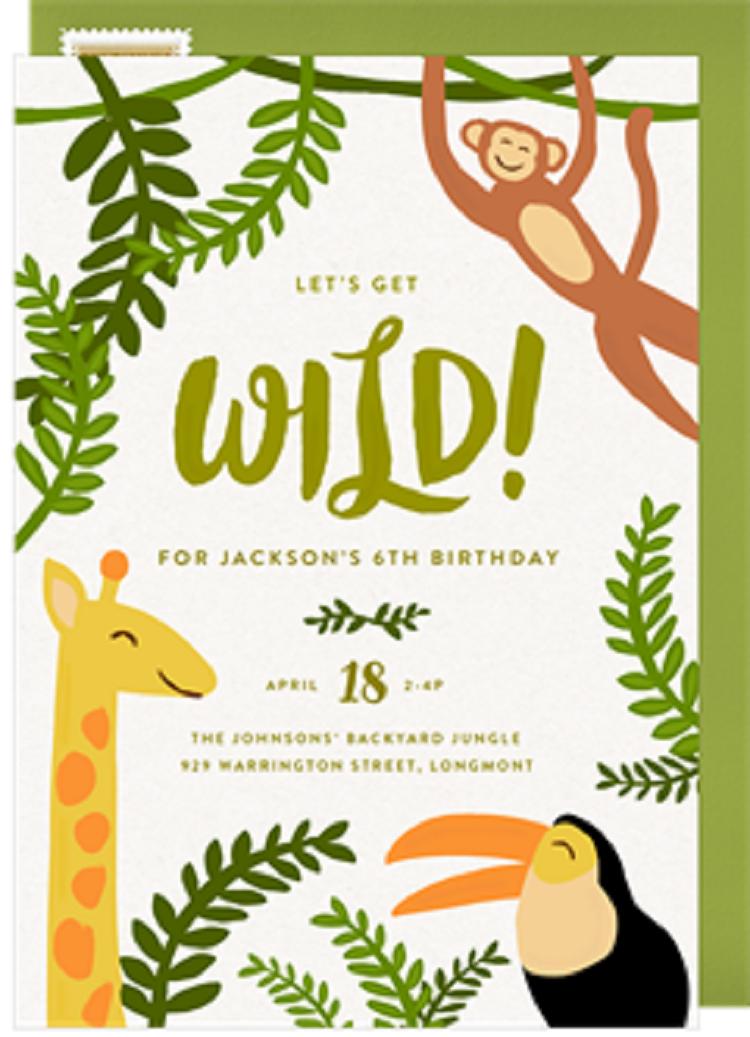 Safari Theme Baby Shower Invitation Templates Invitation Ideas Di