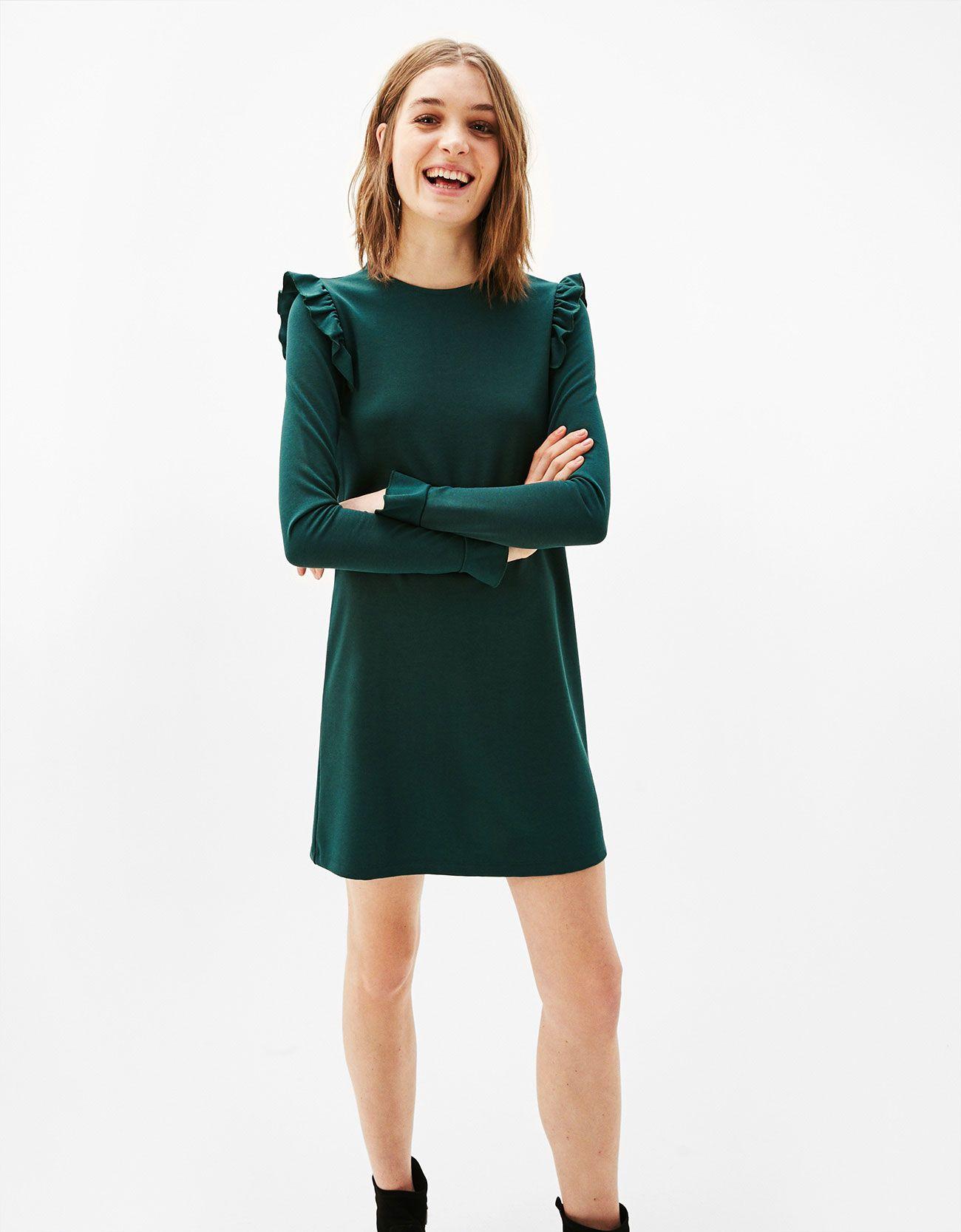 Punto di Roma-Kleid in A-Form mit Volant  Kleider, Tuch, Kleidung