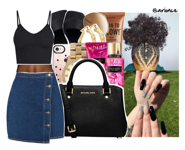 """""""O7•27•2O17"""" by arionce ❤ liked on Polyvore featuring Casetify, NYX, Chloé, Bling Jewelry, Marc by Marc Jacobs, Victoria's Secret, MICHAEL Michael Kors and Boohoo"""