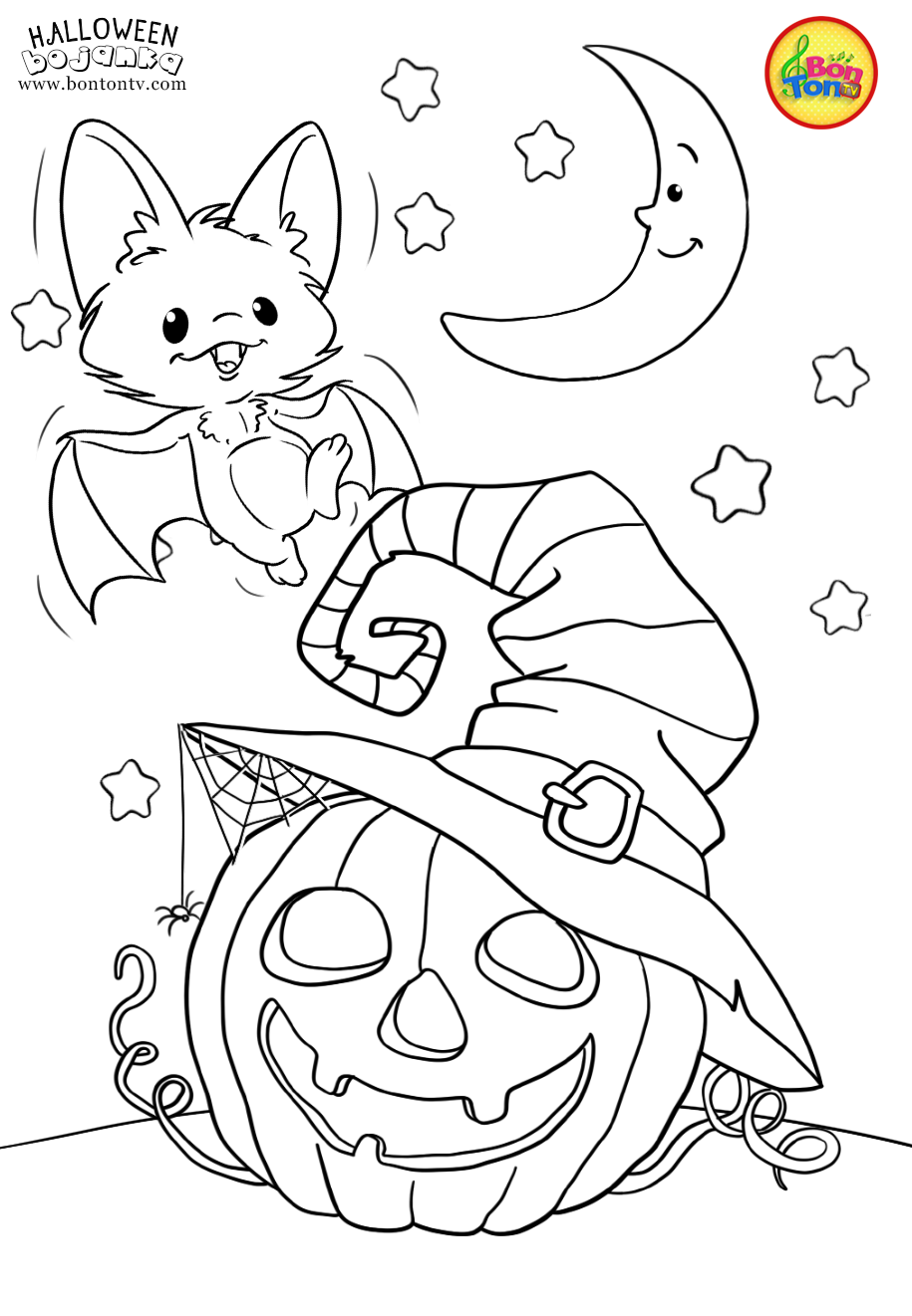 Halloween Coloring Pages For Kids Free Preschool Printables Noa Vjeĺˇtica Bo In 2020 Halloween Coloring Book Scary Halloween Crafts Free Halloween Coloring Pages