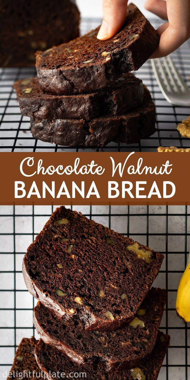 This easy Chocolate Banana Bread is so delicious and tender with a chocolatey and nutty flavor and wonderful aroma Either as breakfast dessert or midday snack it will mak...