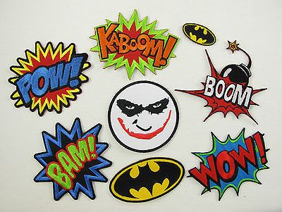 Superhero KABOOM Comic Novelty TV Batman Embroidered Applique Iron On Patch