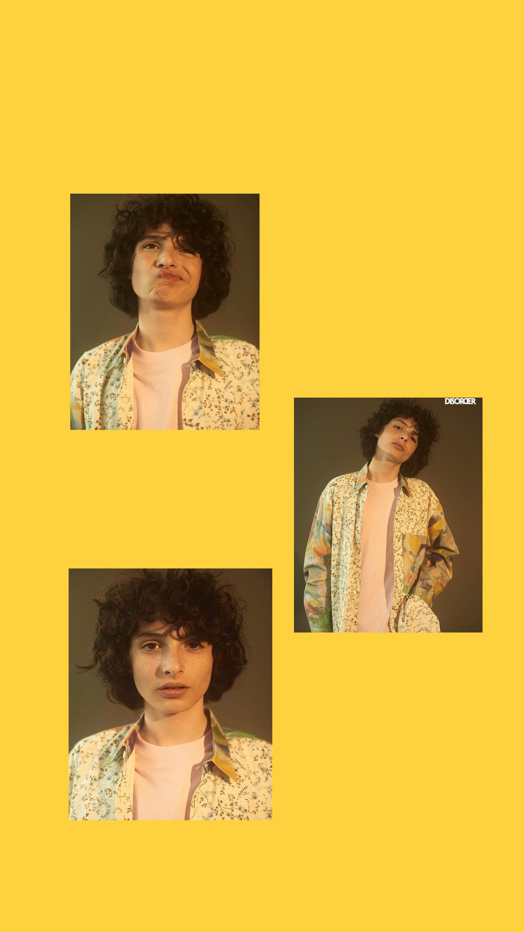 Yellow Finn Wolfhard Wallpaper Cast Stranger Things Yellow Aesthetic Finn