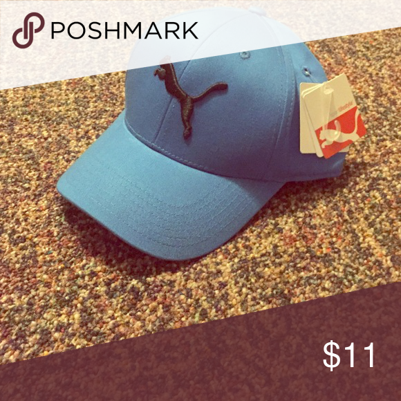 Puma stretch fit cap Pretty light blue cap- look adorable while protecting  your skin from rays! Puma Accessories Hats 629403b8a7c