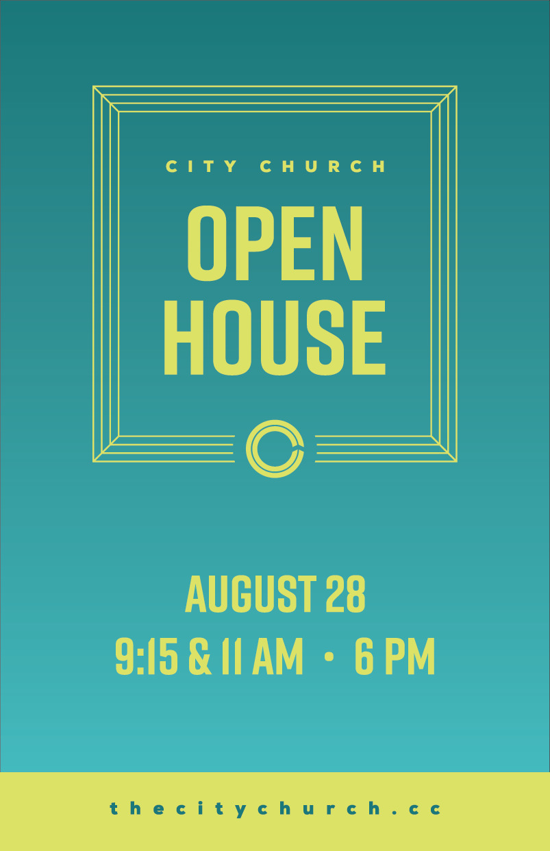 Open House 1 Open House House Church Graphic Design