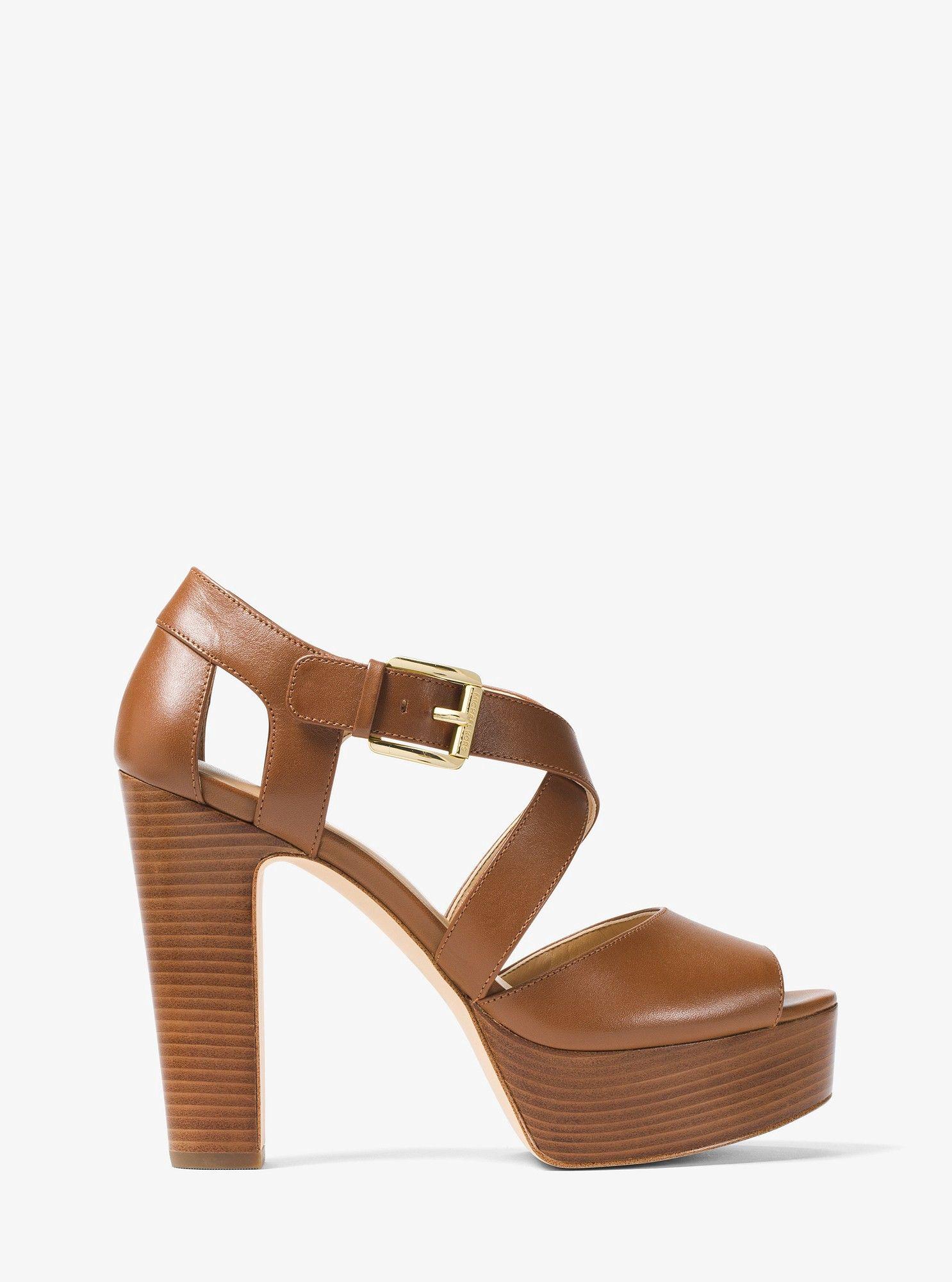 0f34d743a4 Michael Kors Jodi Leather Platform Sandal - 7.5 | Products | Sandals ...