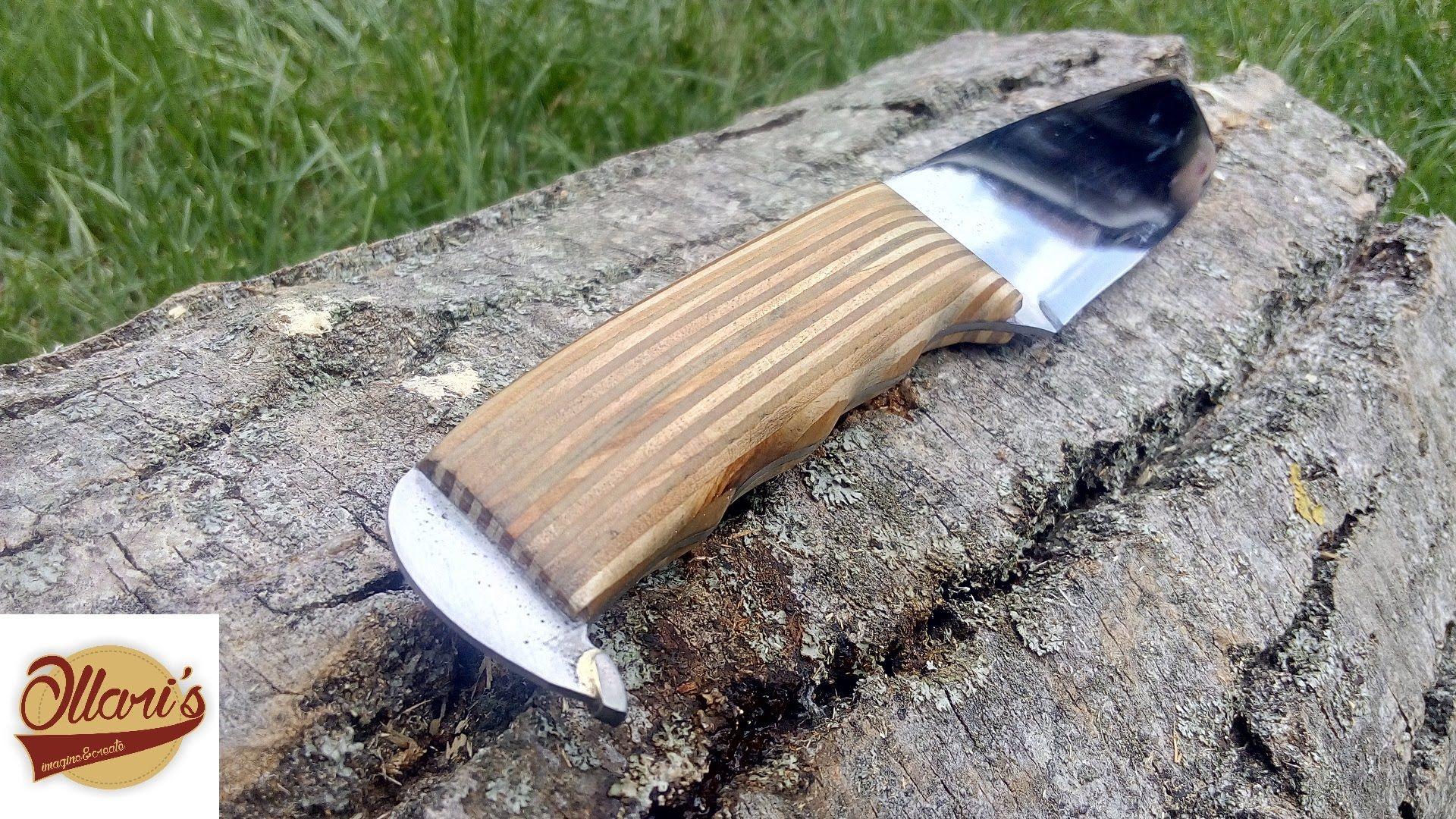 How i make a saw blade knife plywood handle knife