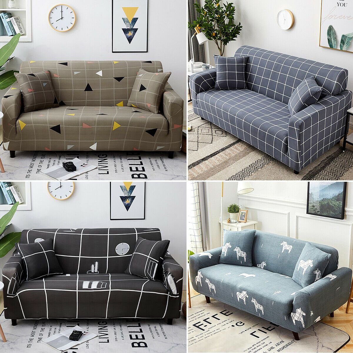 Elastic Sofa Cover Slipcover Stretch Couch Furniture Chair Protector 1234 Seats Ebay In 2020 Couch Furniture Sofa Covers Couch Covers Slipcovers
