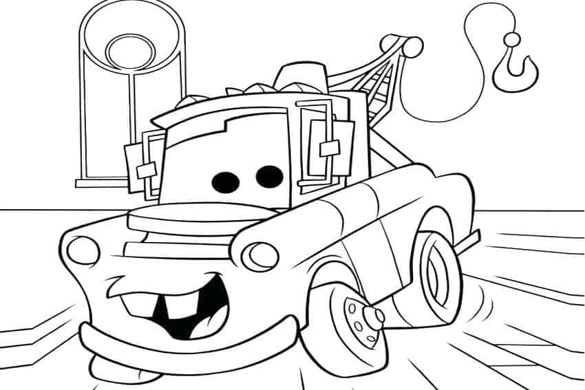 Cars Mater Cars Coloring Pages Race Car Coloring Pages Truck Coloring Pages