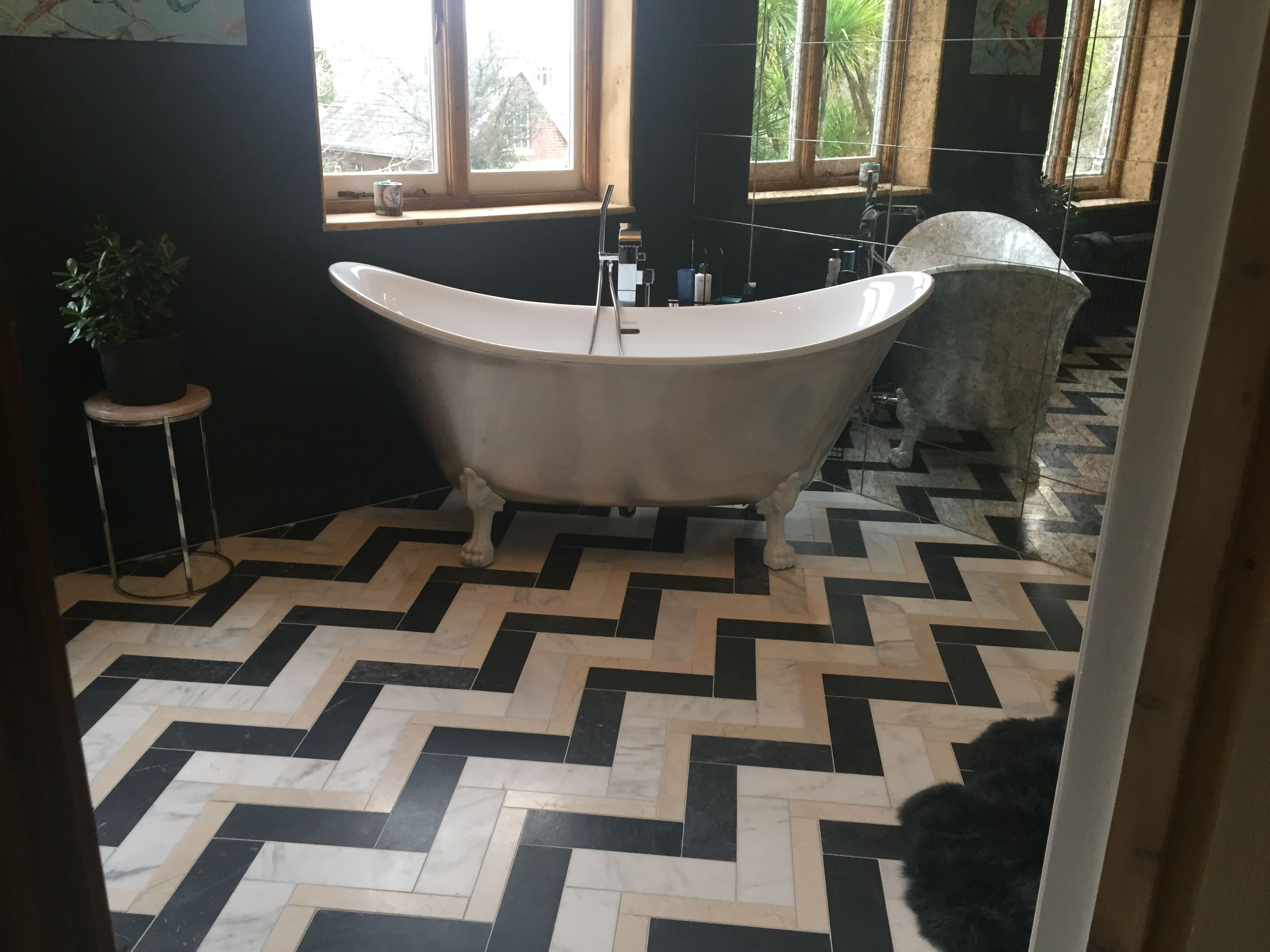 Marble Floor, Style, Herringbone, Bathroom, Swag, Bath Room, Bathrooms, Powder