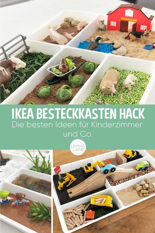 IKEA STÖDJA Hack mit dem Besteckkasten für Kinder