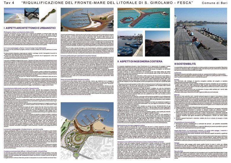 Riqualificazione del fronte mare del litorale San girolamo Fesca 2 classificato, Bari, 2008 - Studio Nicoletti Associati, Manfredi Nicoletti, Luca Nicoletti