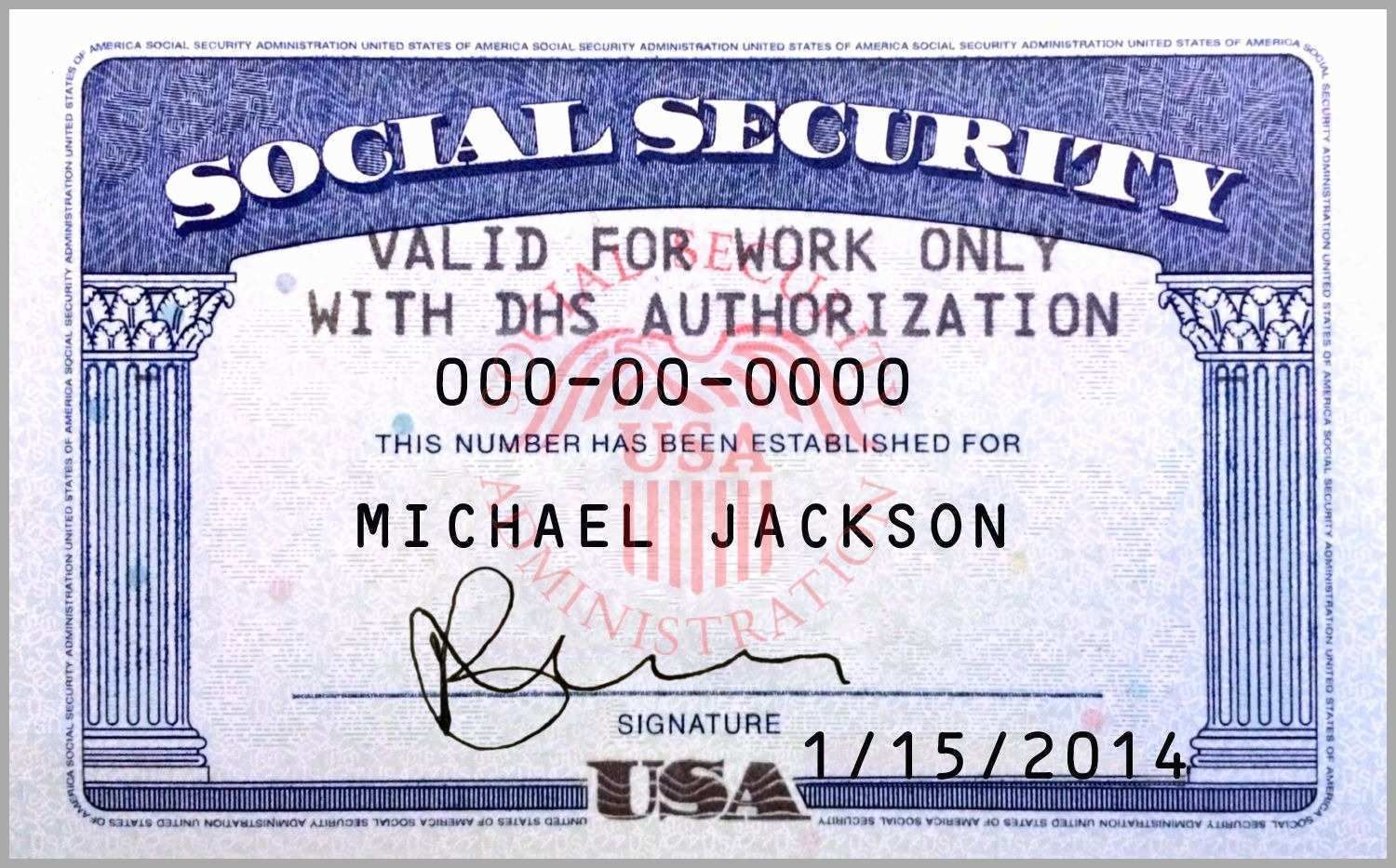 The Awesome 10 Blank Social Security Card Template