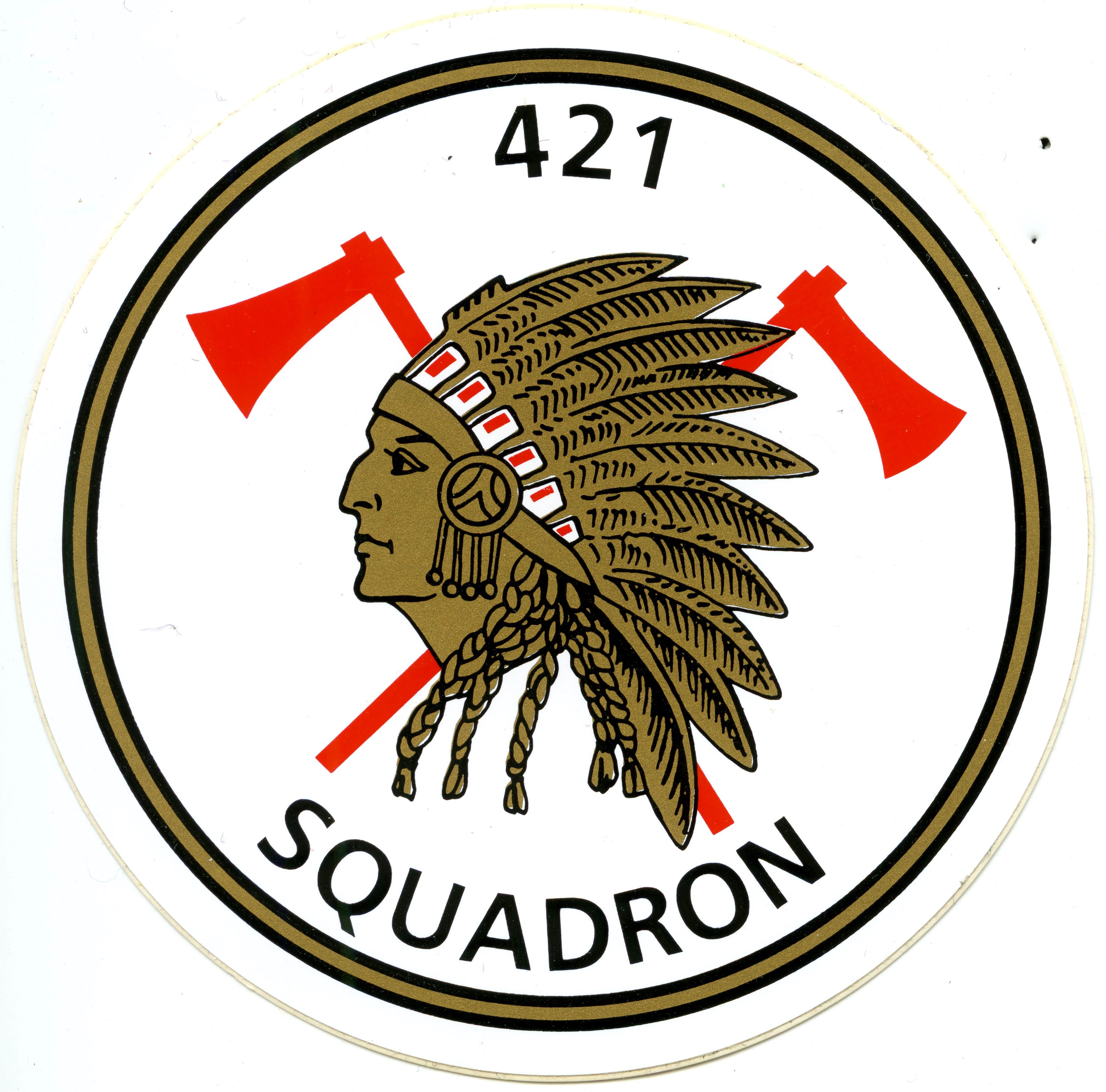 RCAF 421 Squadron Sticker Canadian military, Military