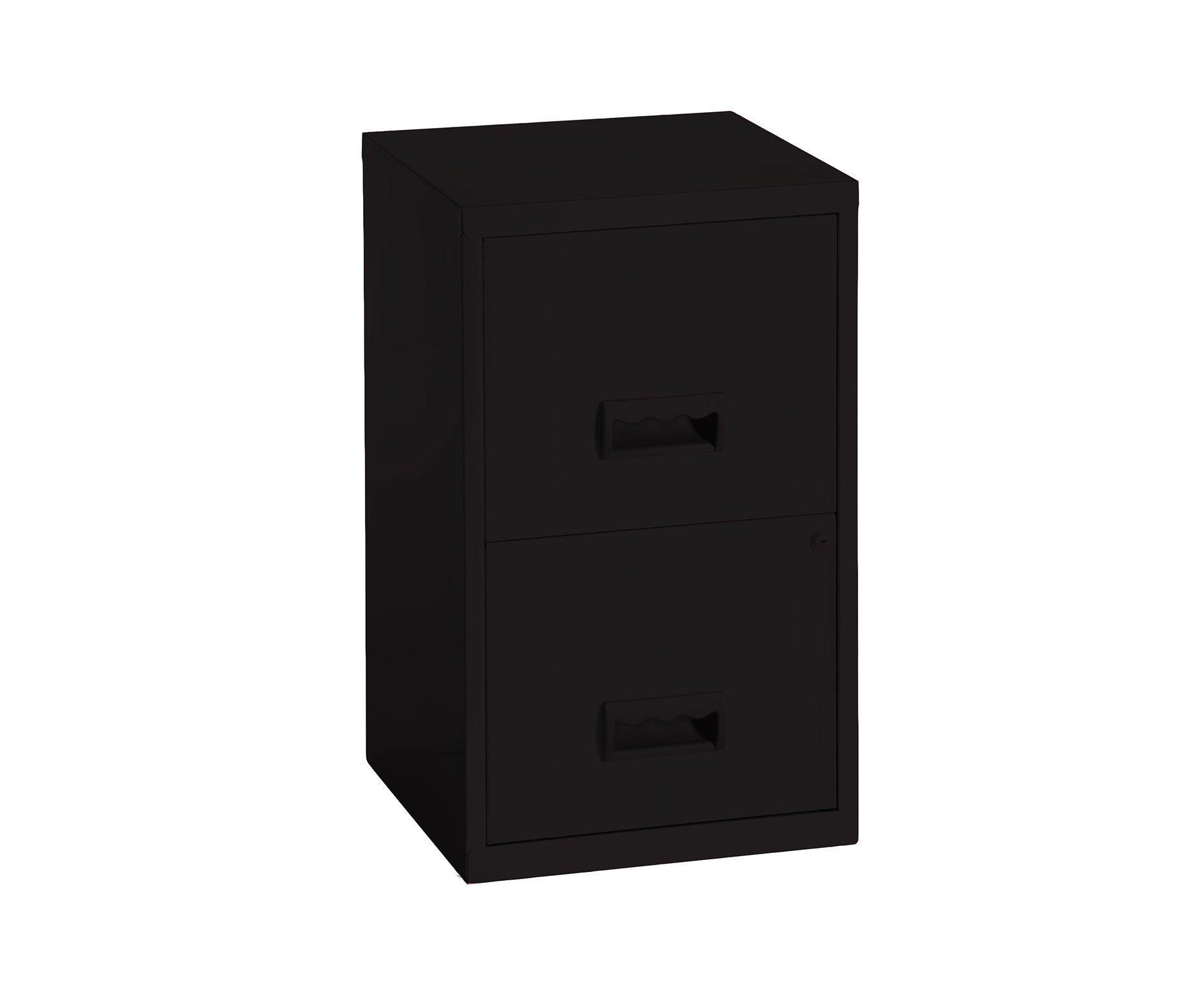 Pierre Henry 771729 Meuble De Rangement Pour Dossiers 2 Tiroirs Couleur Noir In 2020 Filing Cabinet Cabinet Filing Cabinet Storage
