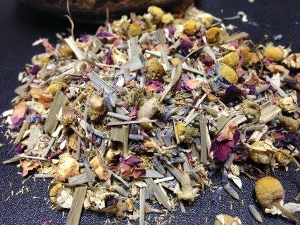 Holistic Blends Soap Co - Indulgence Herbal Bath Tea. Relax muscles and detoxify with chamomile, rose and lavender.