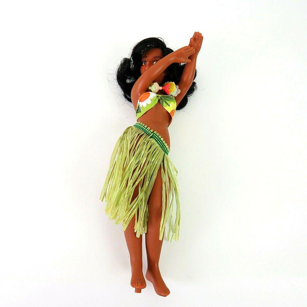 Vintage Hawaiian Souvenir Hula Girl Doll Hula Dancer Hawaii Tropical