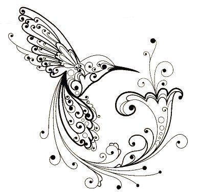Hummingbird | tattoos | Pinterest | Colibri, Colorear y Bordado