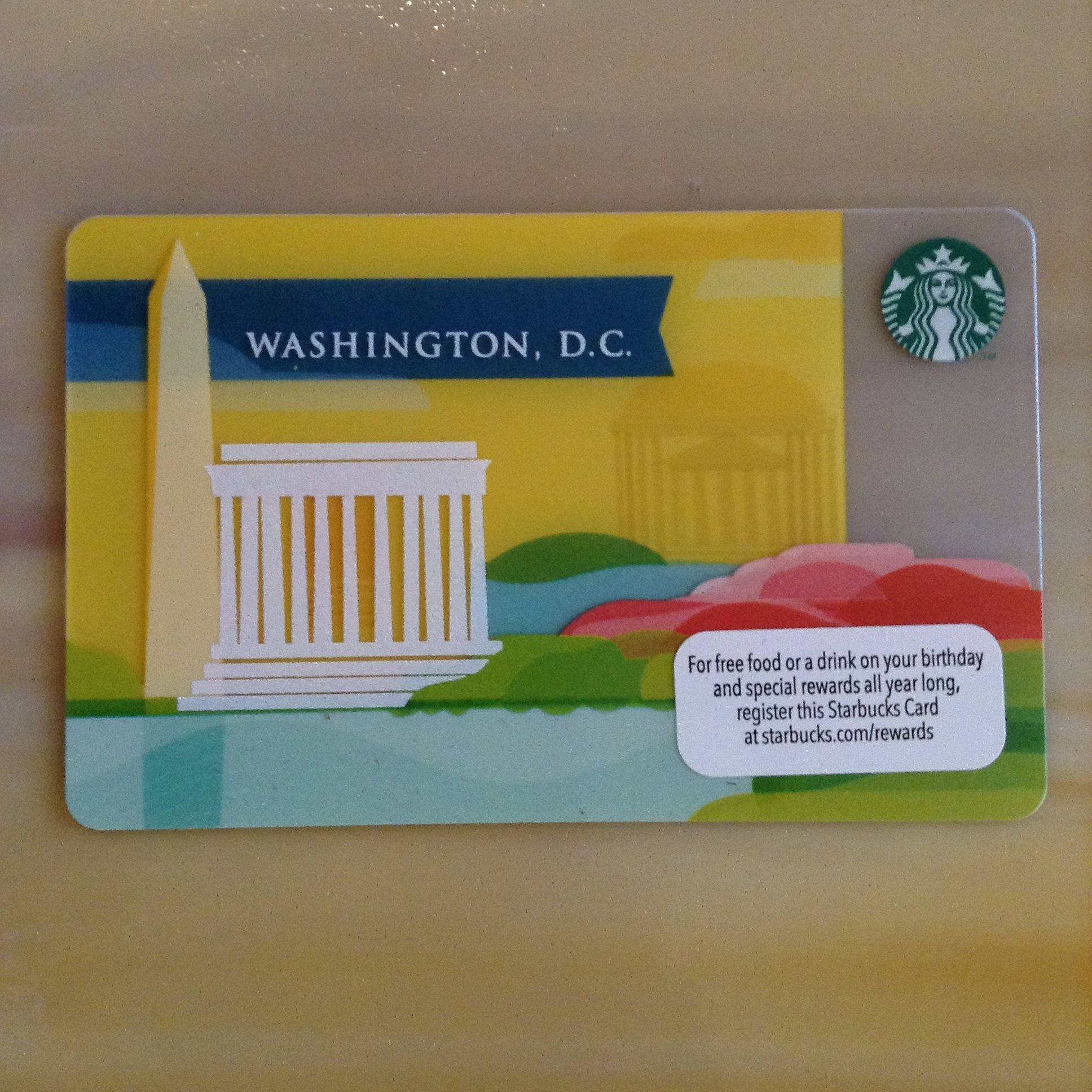 This card was available in select washington dc stores