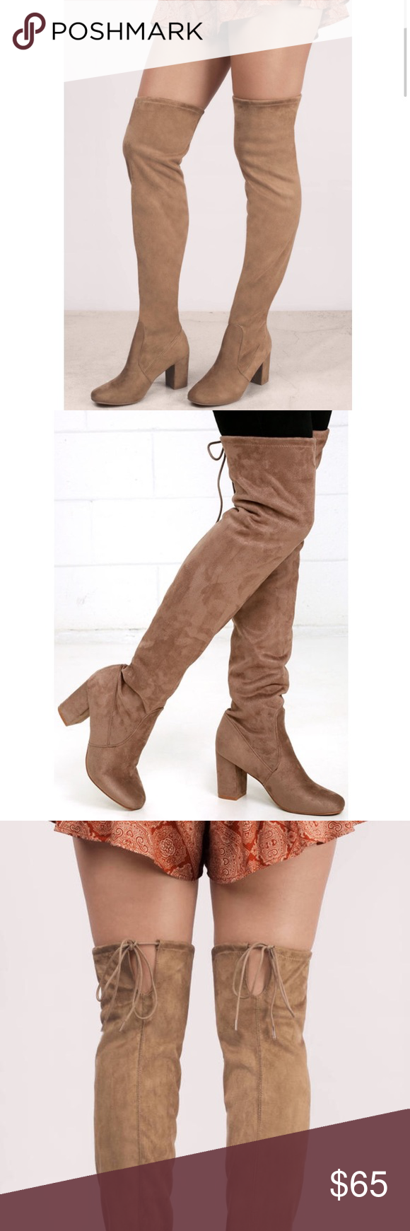 d26f5eb455f Chinese Laundry Kiara Over the Knee Suede Boot Heel  3.5