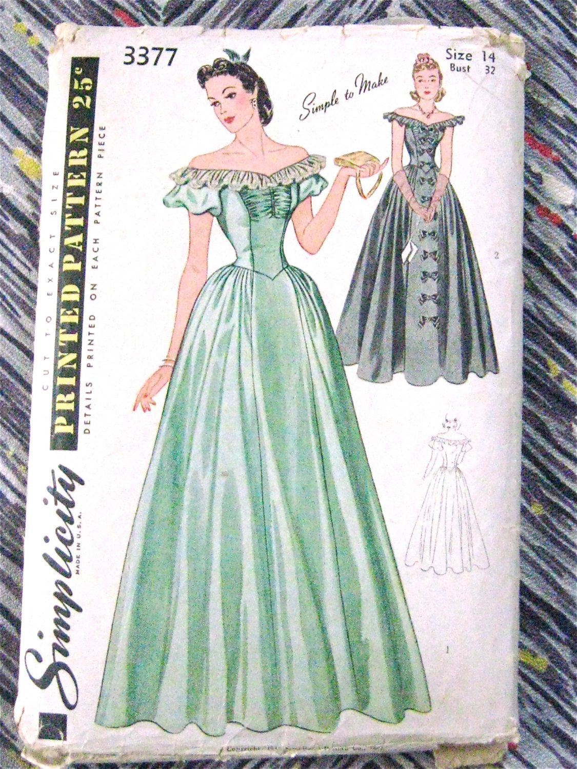 Simplicity 3377 (1940) | Vintage Sewing Patterns Community Board ...