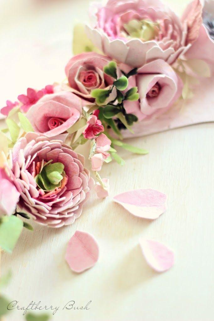 Watercolor Flower Paper Wreath Craftberry Bush Craft Pinterest